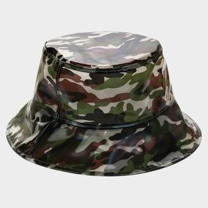 Black Army Camouflage Bucket Hat Fashion Accessory